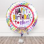 Vorschaubild Singender Ballon Happy Birthday to You! und Freixenet Semi Seco