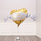 Vorschaubild Riesenballon Golden Heart Just Married und Champagner Veuve Clicquot