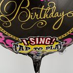 Vorschaubild Singender Ballon Happy Birthday Glamour und Himbeer-Bonbons Happy Birthday