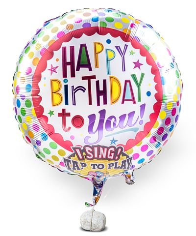 Singender Ballon Happy Birthday to You!